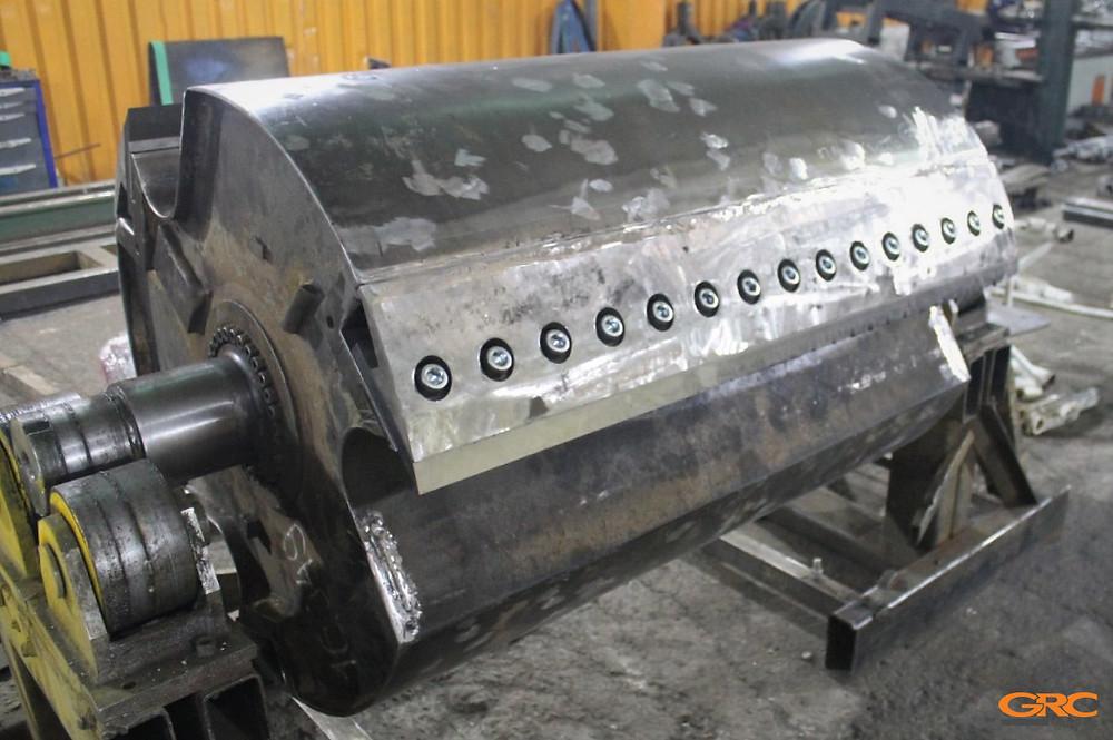 Ротор дробилки после капитального ремонта