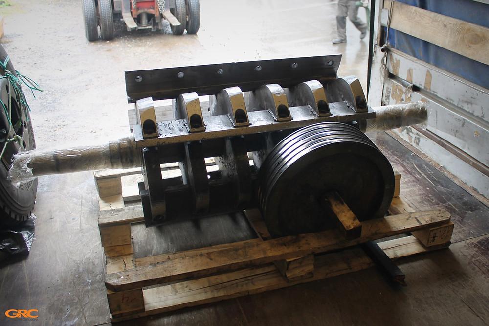 Шкив и ротор дробилки на отгрузке