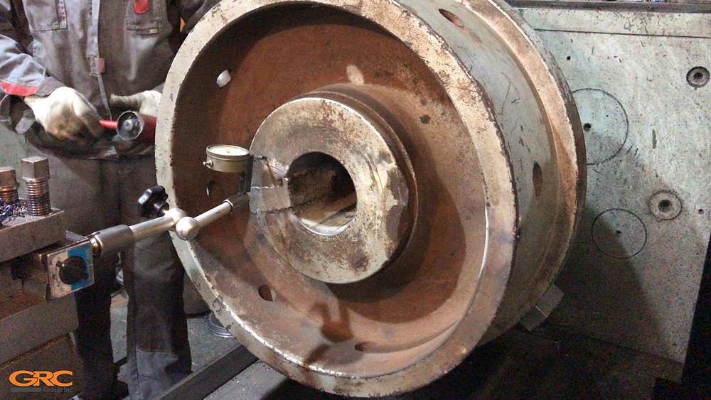 Расточка посадочного места маховика под ремонтный бандаж