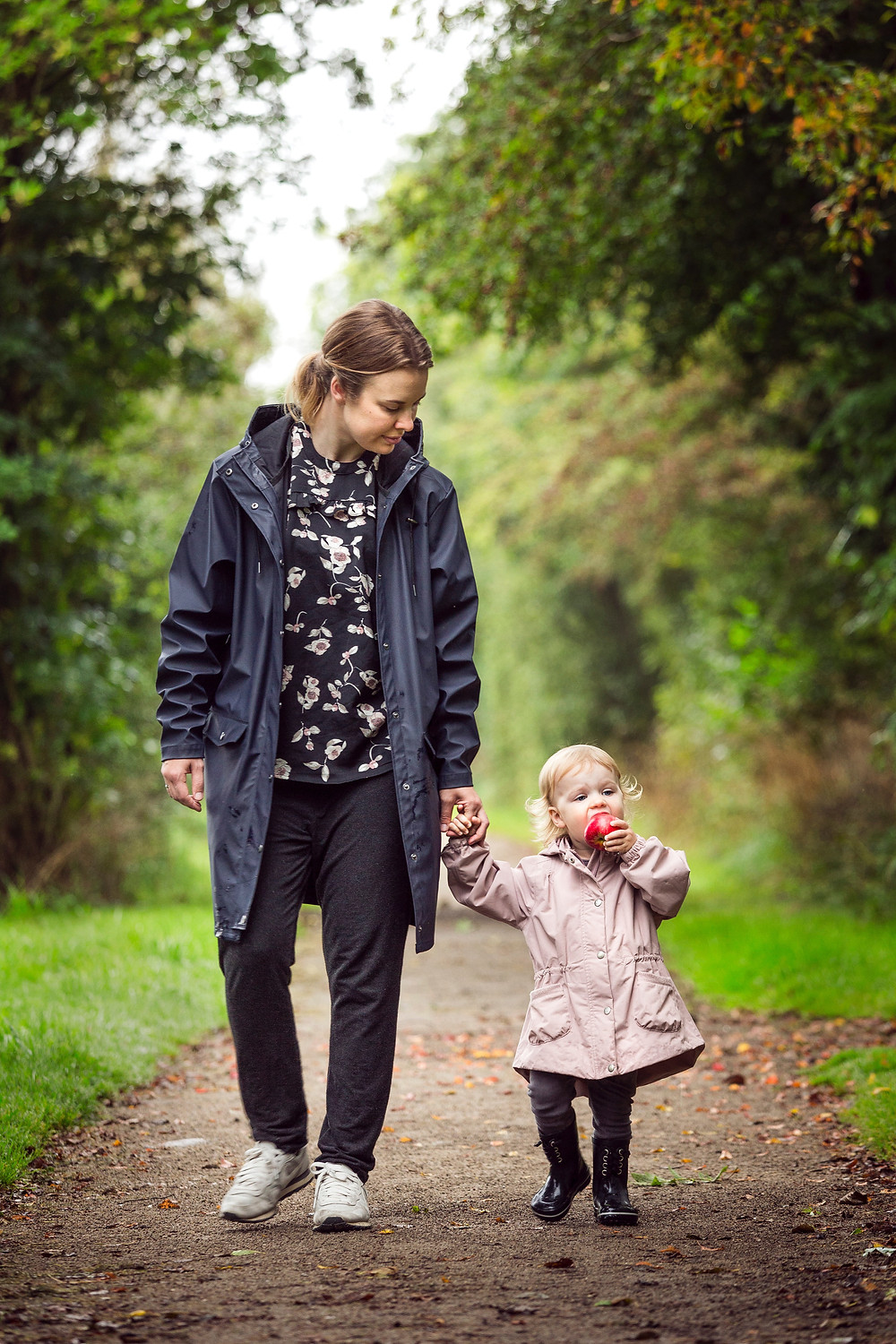 Woman and baby going for walk