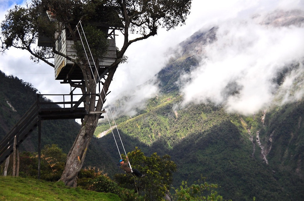 Swing at the End of The World in Ecuador