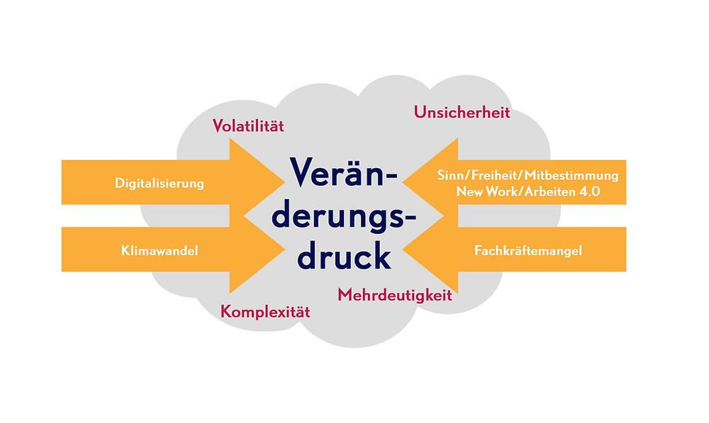 vuca-Welt macht Change notwendig und Change-Management herausfordernd - Beratung durch Andrea Kron von kronkonsult berücksichtigt dies