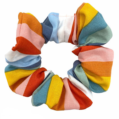 Multicolored Stripe Scrunchie