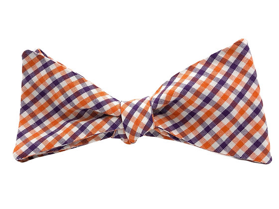 Orange and Purple Gingham