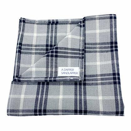 Gray and Black Plaid Pocket Square