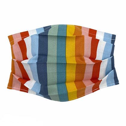 Multicolored Stripe Mask