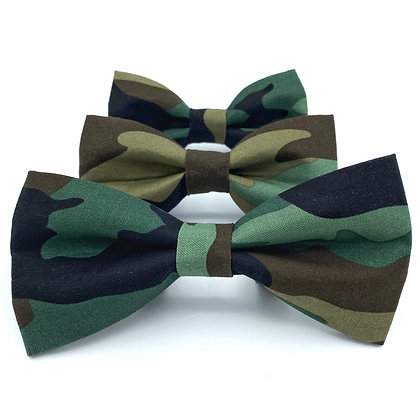 Camo Dog Bow Tie