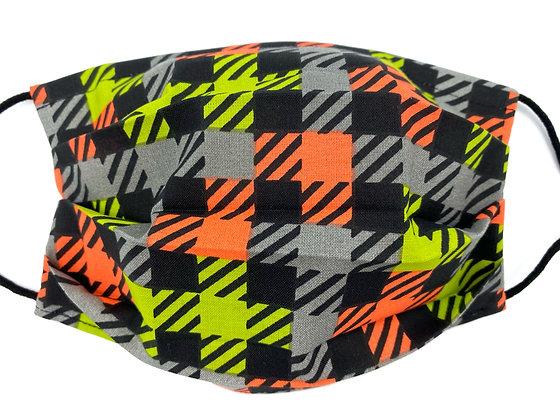 Neon Plaid Mask