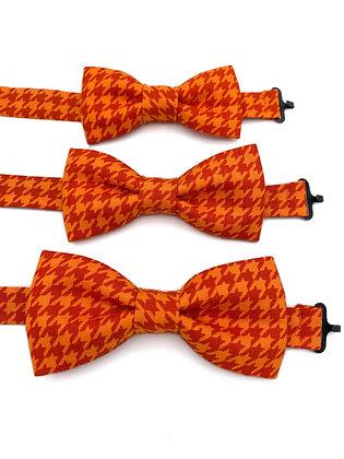 Pre-Tied Orange Houndstooth