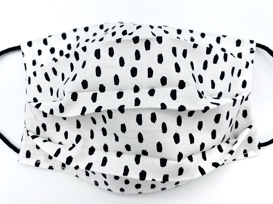 White and Black Dots Mask