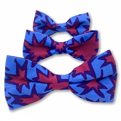 Blue Starburst Dog Bow Tie