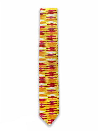Skinny Yellow Diamonds Necktie