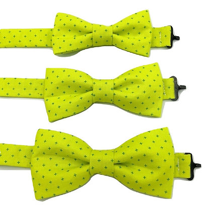 Pre-Tied Fluorescent Green with Crosses