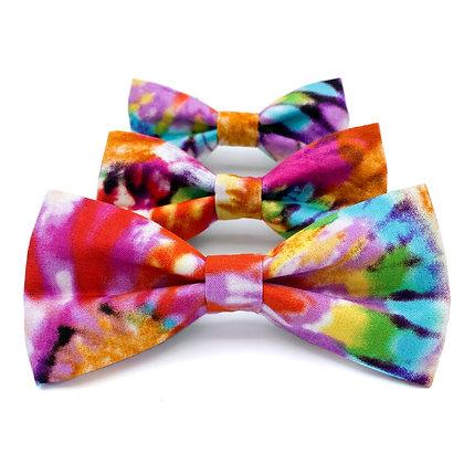 Tie Dye Dog Bow Tie