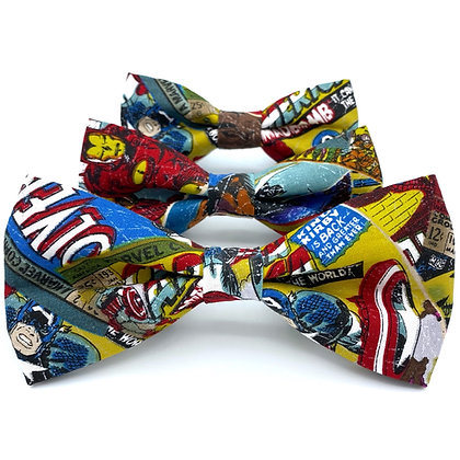 Comic Book Dog Bow Tie