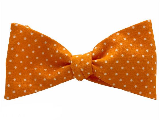 Orange and White Polka Dots