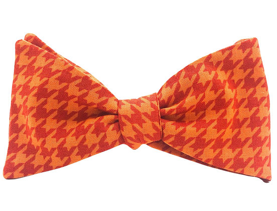 Wholesale Orange Houndstooth