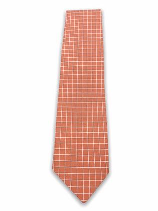 Coral Grid Necktie