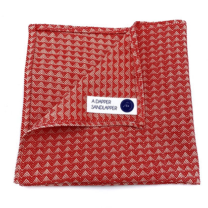 Red Zig Zag Pocket Square