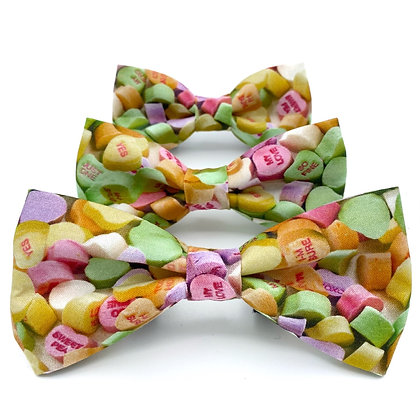 Conversation Hearts Bow Tie