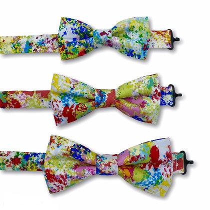 Pre-tied Paint Splatter Bow Tie