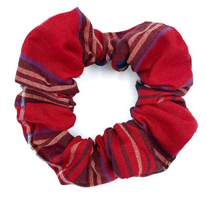 Red Tartan Scrunchie