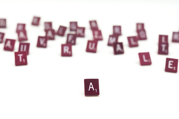 Maroon Scrabble Tile Lapel Pin