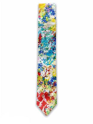 Skinny Paint Splatter Necktie