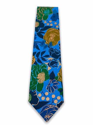 Metallic Flowers Necktie