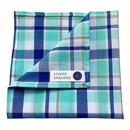 Blue Plaid Pocket Square