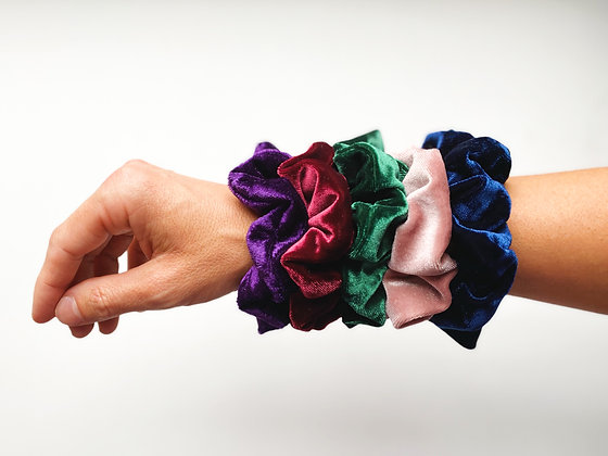 Crushed Velvet Scrunchies