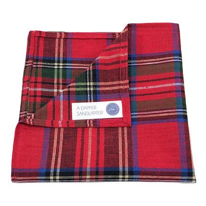 Red Tartan Plaid Pocket Square