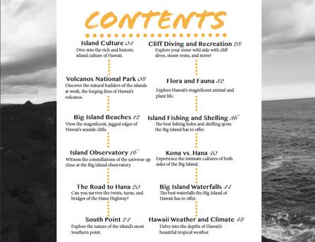 Mahalo Magazine contents