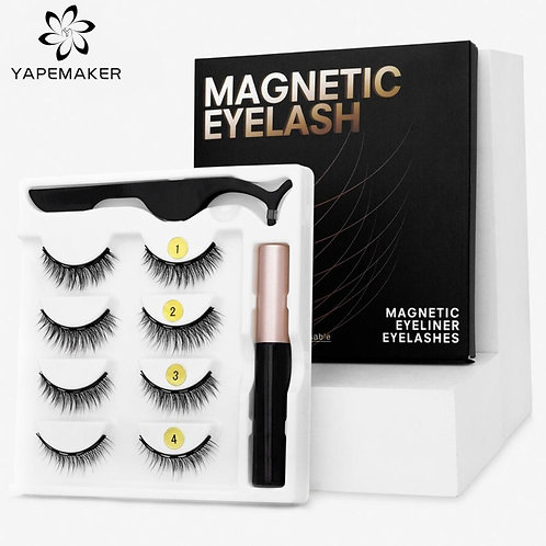 3D Eyelashes  with Magnetic Eyeliner - Waterproof  and Long Lasting