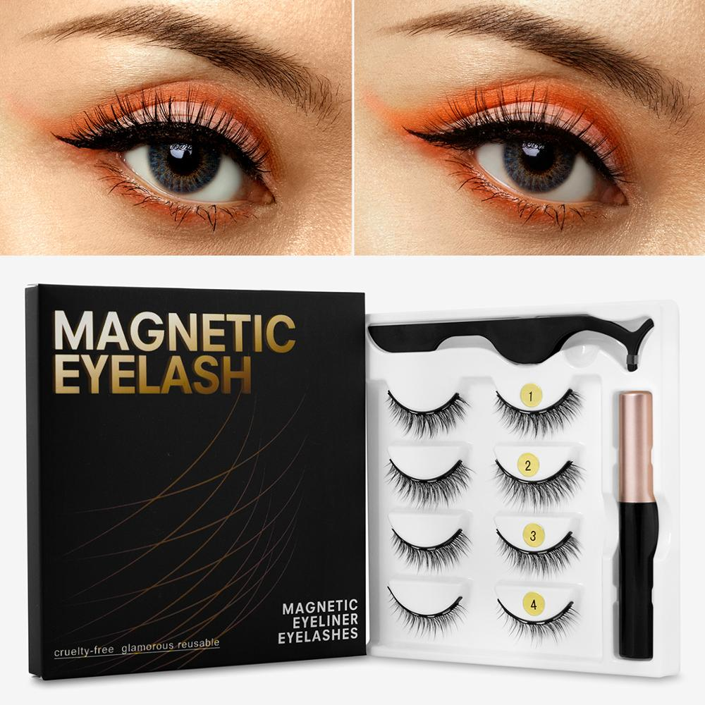 3D Eyelashes with magnetic liner