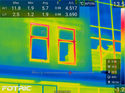 Fotric thermal cameras in building inspection