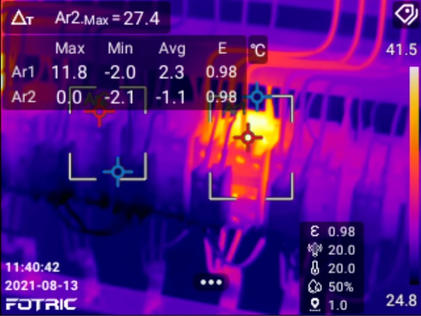 Fotric 320 series thermal cameras provide unparalleled insights into manufacturing equipment