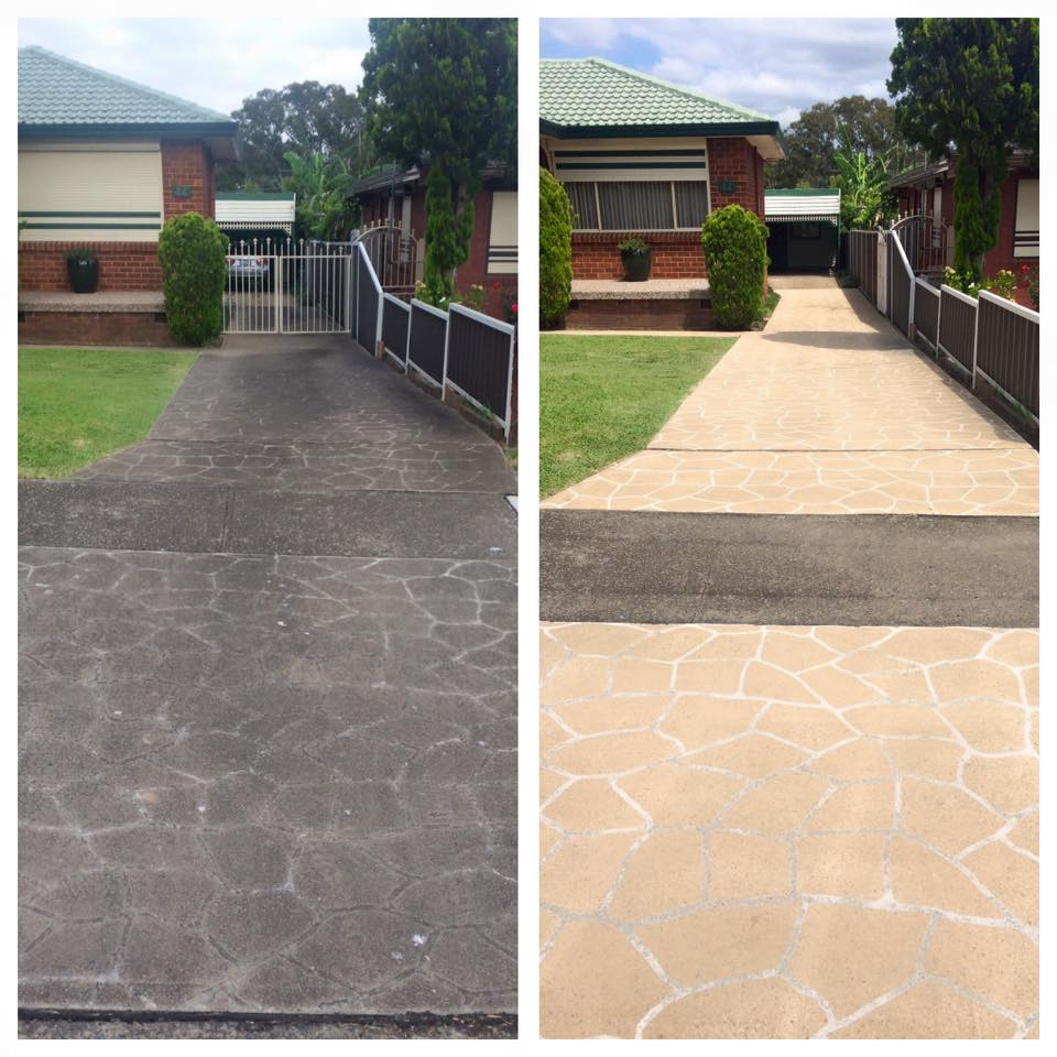 Stencilcrete cleaning