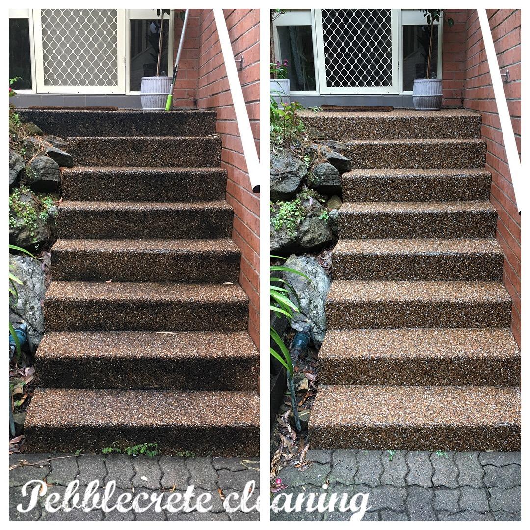 Pebblecrete Stairs