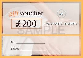 sports massage gift voucher