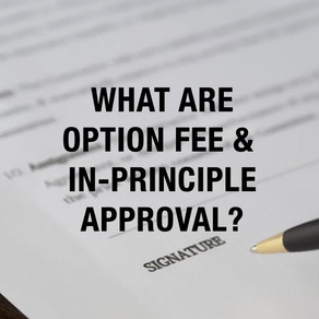 What are Option Fee & In-Principle Approval?