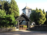 St. Mary Magdalene Church, Stretton Sugwas, as seen from opposite the entrance gate