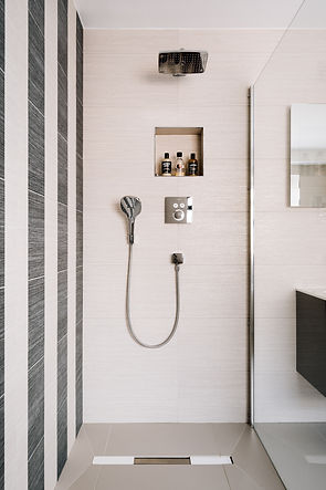 contemporary walk in shower