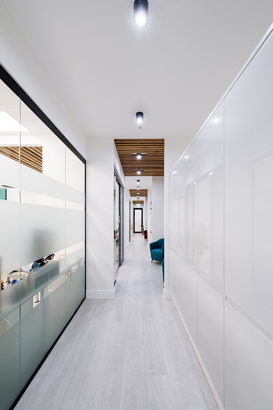Modern ceiling timber cladding