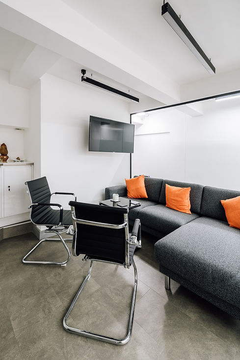 Contemporary london office with corner sofa