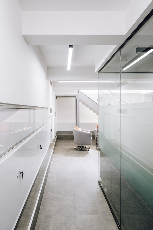 Contemporary Basement Office Space