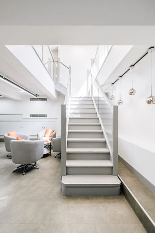 Modern open plan office stairs