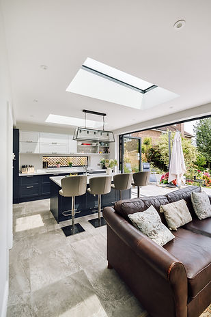 Contemporary kitchen extension Isleworth