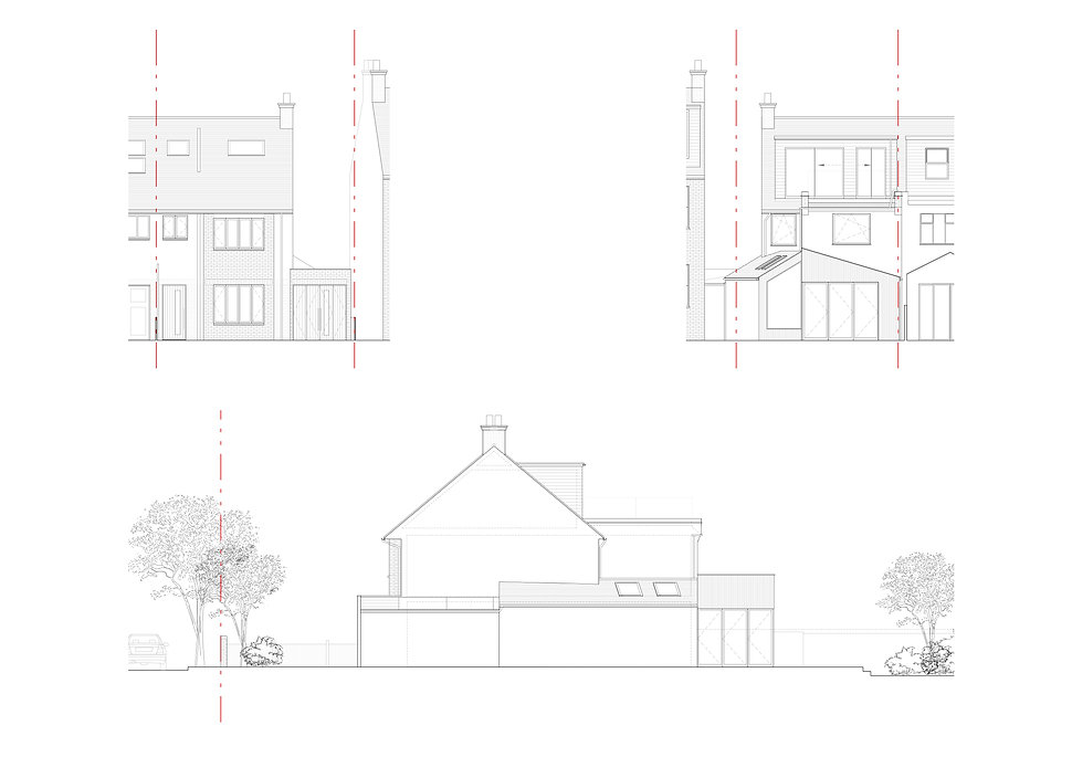 Elevations for house extension Wimbledon