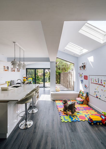 Open plan kitchen extension London